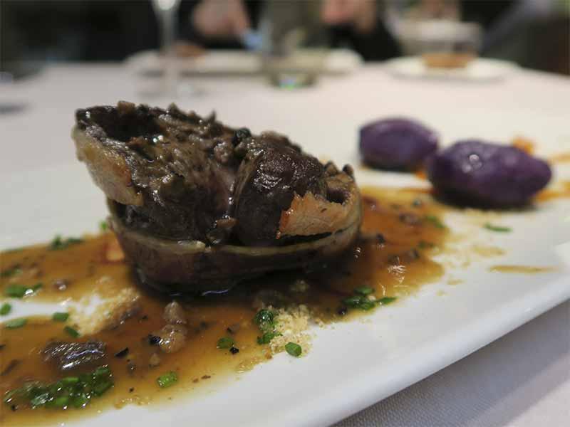Restaurante Sandó Gran Vía Madrid Tournedo de vacuno