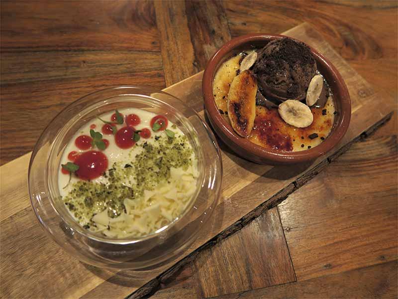 Pie de Lima y Crema catalana Restaurante Nomada Madrid