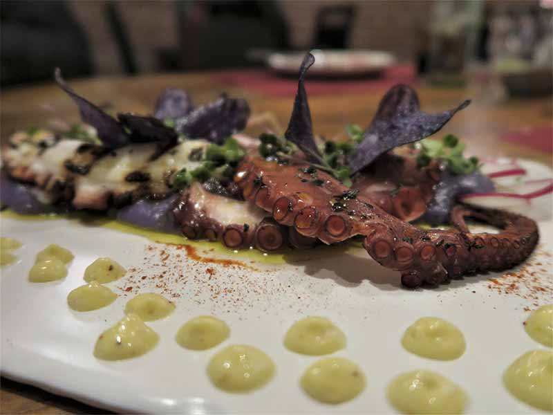 Pulpo al grill Restaurante Nomada Madrid