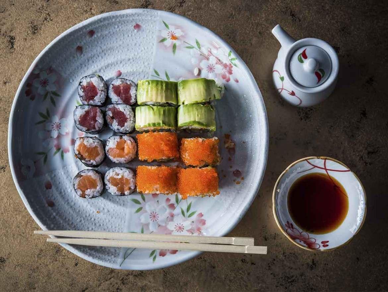 Matcha House bandeja sushi