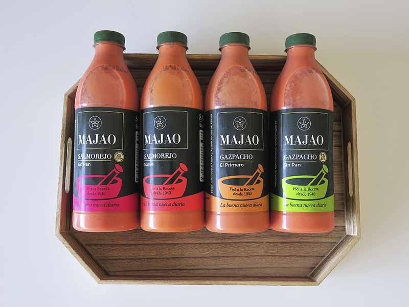 Variedades de Salmorejo y Gazpacho andaluz Majao