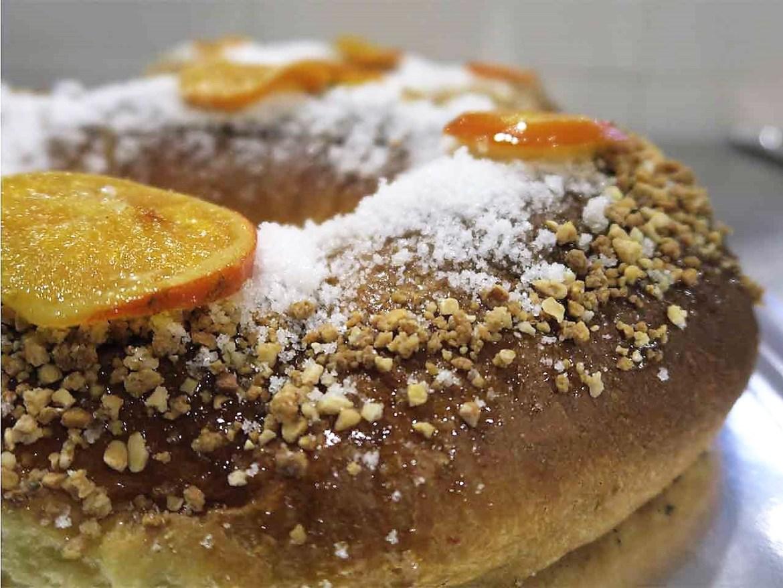 El mejor roscon de Madrid con naranja confitada