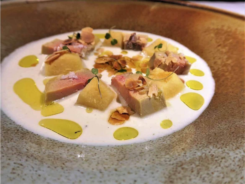 Restaurante Salino Madrid foie escabechado y membrillo
