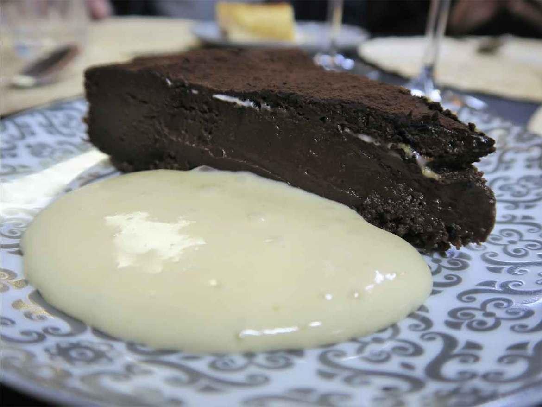 Restaurante Tres por Cuatro Tarta de Chocolate