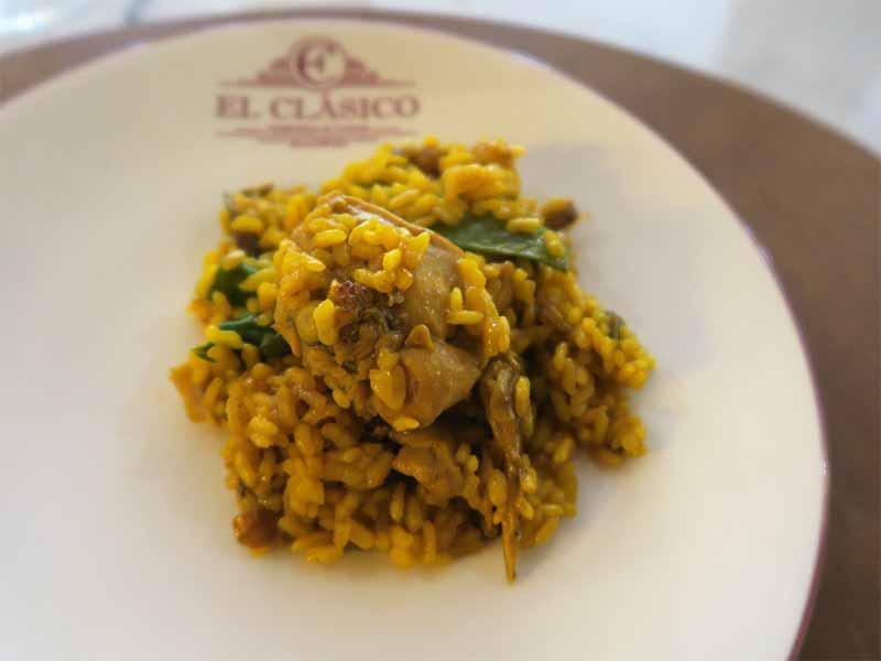 Arroz con pollo conejo y verdura Arroceria y Mercado El Clasico