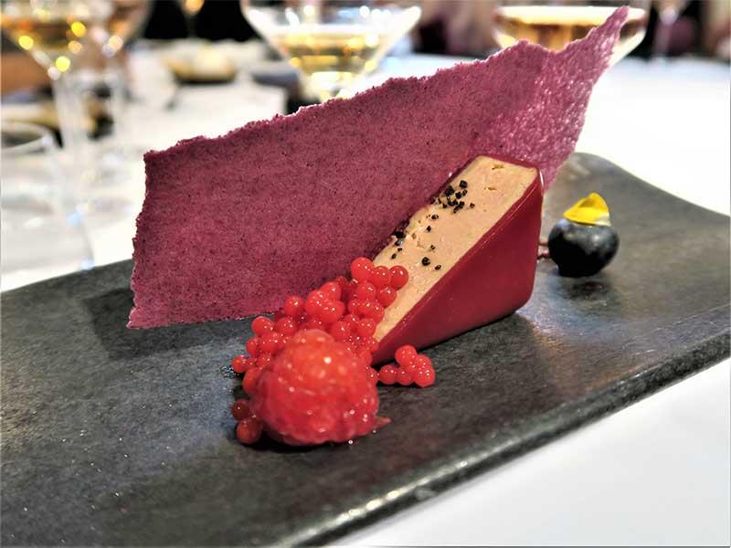 Foie con frutos rojos Restaurante Trigo Valladolid