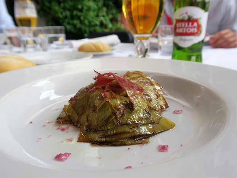 alcachofa confitada evento mejor tirador de cerveza