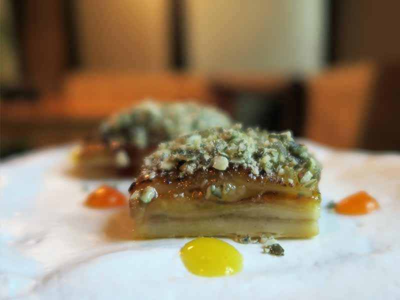 Restaurante Lua de Madrid Foie micuit con empanada de pera