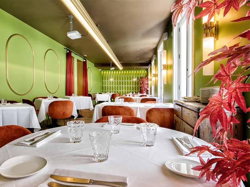 Restaurante Noi comedor verde