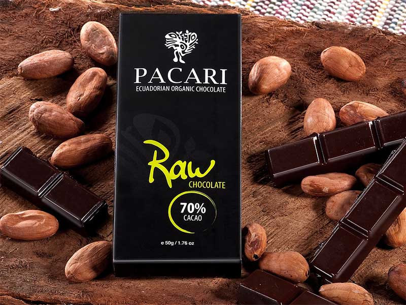 Chocolate Pacari Raw 70% Cacao