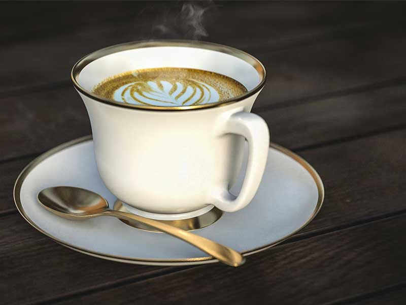 Taza de cafe de porcelana