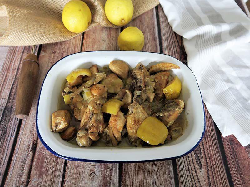 receta pollo al limon y verduras