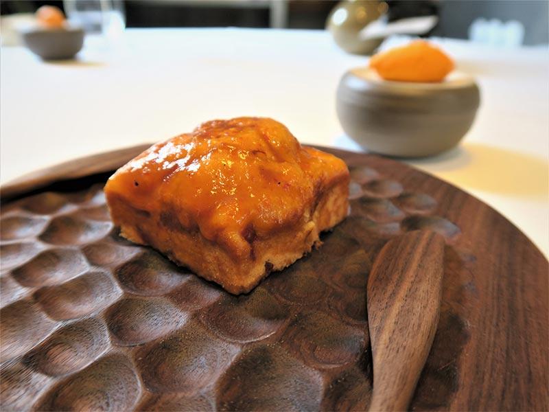 Restaurante Muna Ponferrada Leon brioche de pimientos asados de El Bierzo
