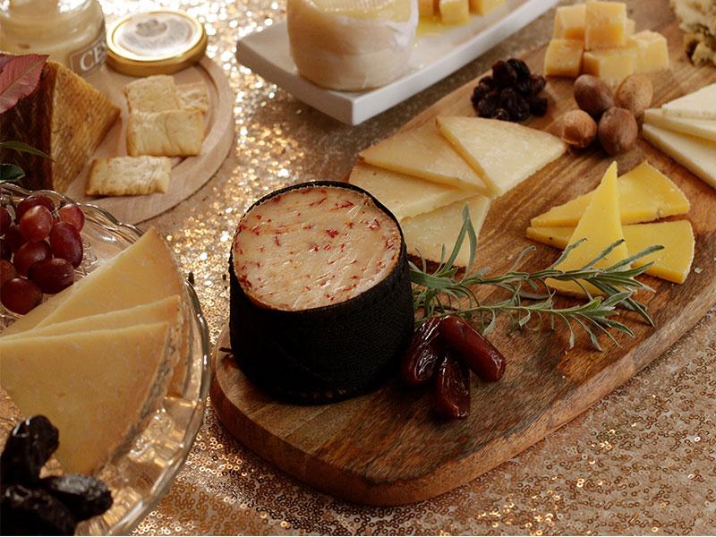 Cena de Nochebuena Tabla de quesos y frutos secos