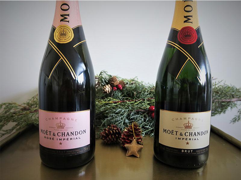 Champagne Moet Chandon Cenas de Navidad