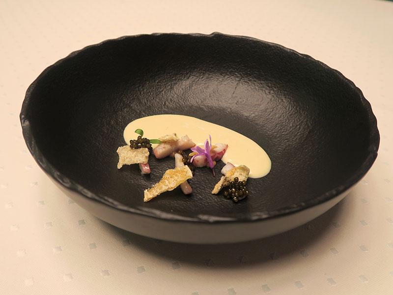 D·Origen Espacio Gourmet Ajoarriero de anguila ahumada