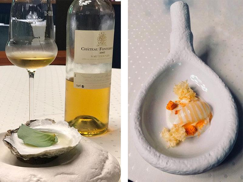 D·Origen Espacio Gourmet Ostra citrica y crema de queso manchego