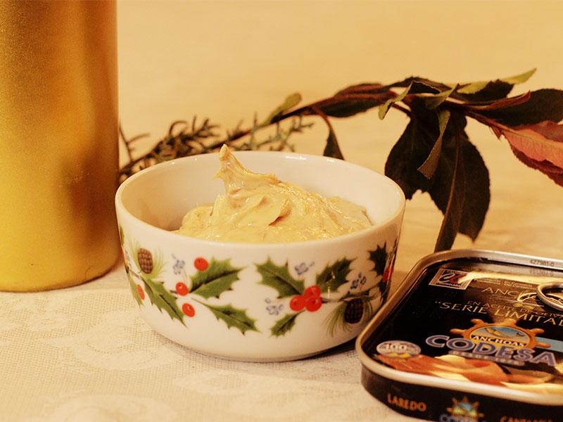 Mantequilla de anchoas Cena de Nochevieja