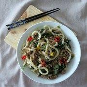 Noodles de Udon con ternera