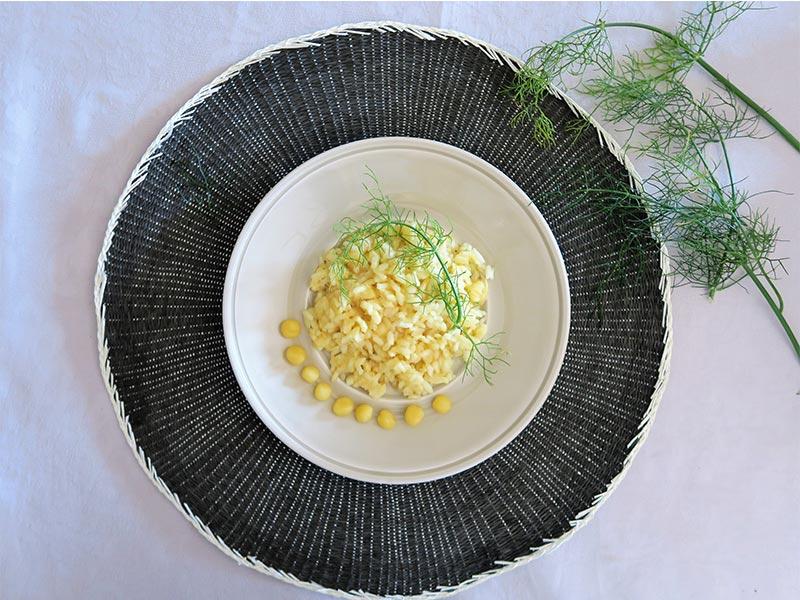Risotto de queso Provolone y Parmigiano