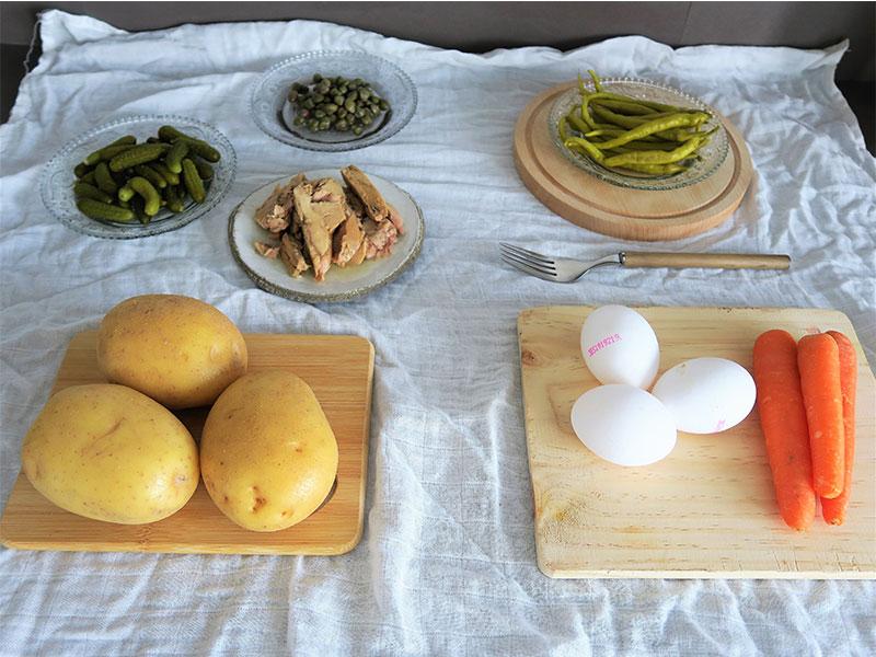 Ensaladilla rusa murciana ingredientes