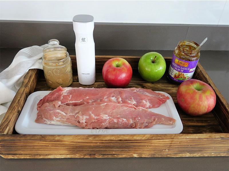 Solomillo de cerdo a baja temperatura Ingredientes