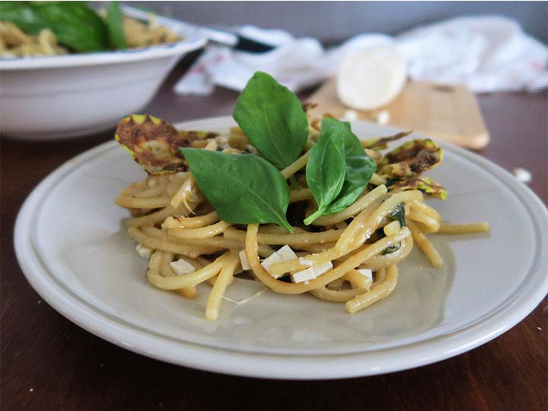Spaghetti alla Nerano con calabacin