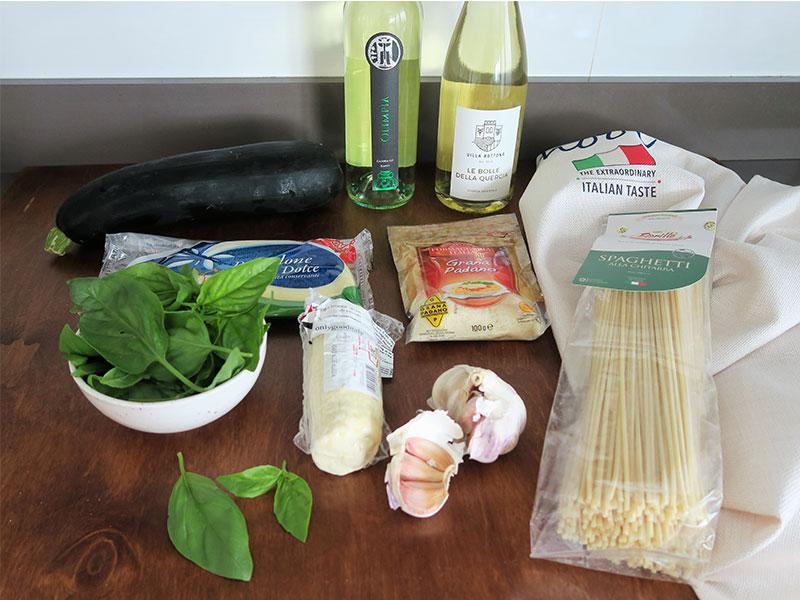 Spaghetti alla Nerano ingredientes
