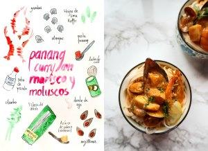 curry panang con marisco y molusicos