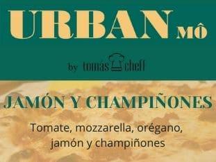 Jamón y champiñones - 8,50€