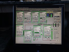 View of the East brewhouse control panel.