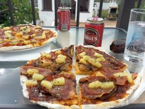 Pizza af lidls brødblanding