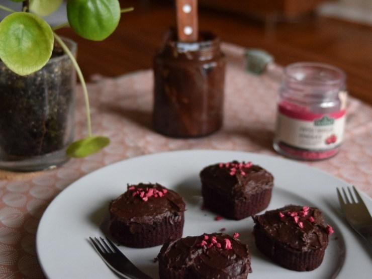 chokolade rødbede muffins