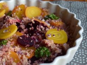 couscous med roedbede og roedloeg, beets, gastroequation, spis efter saeson, greens