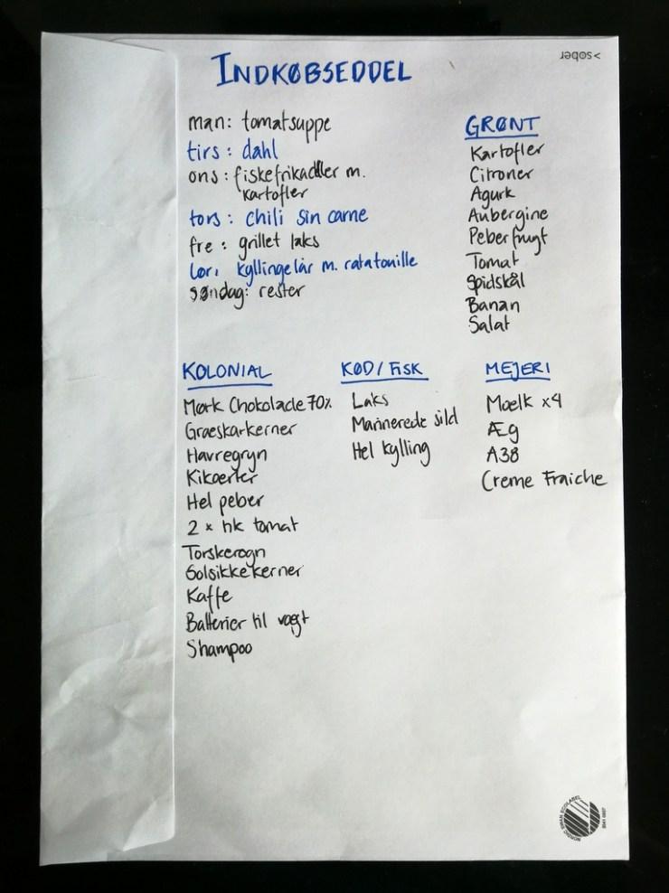 madspild, foodwaste, madplan, indkoeb, indkoebsliste, handle, gastroequation