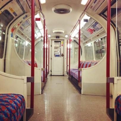 empty bakerloo train