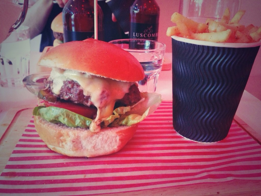 burger, burger and chips, bloody mary fries, andersons peckham, hipster burger