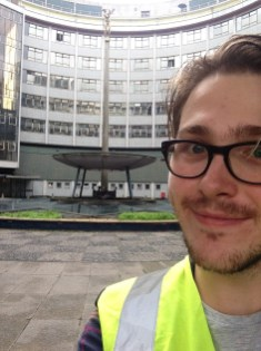 russell at BBC TV Centre