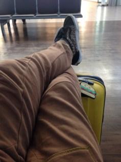waiting in airport burger tag