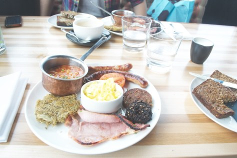 two full 'works' breakfasts sophies