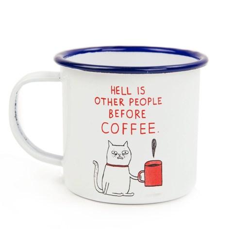 gemma correll mug, gemma corell christmas, ohh deer enamel mug, enamel mug christmas, mug stocking filler