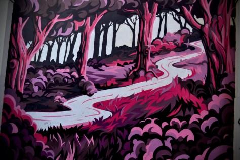 Street Art Pink Forest Belfast
