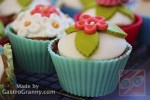 Fondantos cupcake