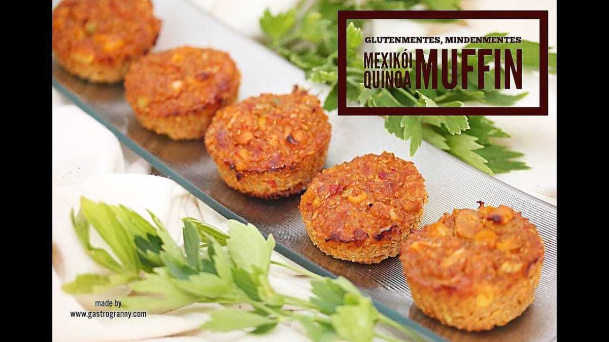 Mexikói quinoa muffinok. Gluténmentes, mindenmentes!