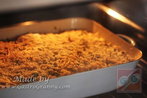 Előmelegített, 180 fokos sütőben pirulásig süsd. Ez kb. 30 perc.