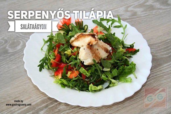 Egészséges, gyors, finom: Serpenyős tilápia saláta ágyon