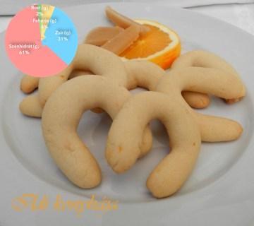 Marcipános-narancsos kiflik -recept-