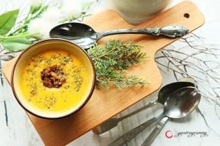 Pikáns sütőtökkrém leves marhahús gombóccal