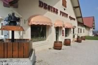 Das Weingut von Desiré Petit in Pupillin in der Nähe von Arbois.