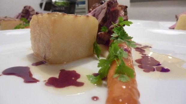 kalvefilet - gulerod - kartoffelfondant - rødvinsglace